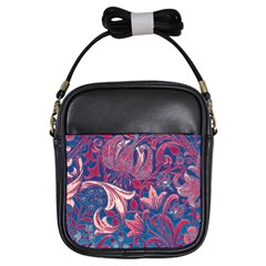Floral Pattern Girls Sling Bags