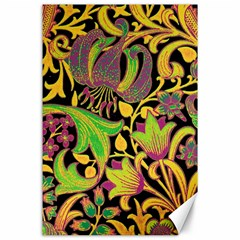 Floral pattern Canvas 24  x 36