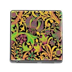 Floral pattern Memory Card Reader (Square)