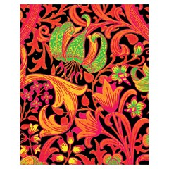 Floral pattern Drawstring Bag (Small)