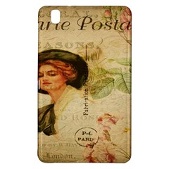 Lady On Vintage Postcard Vintage Floral French Postcard With Face Of Glamorous Woman Illustration Samsung Galaxy Tab Pro 8.4 Hardshell Case