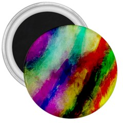 Colorful Abstract Paint Splats Background 3  Magnets