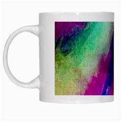 Colorful Abstract Paint Splats Background White Mugs