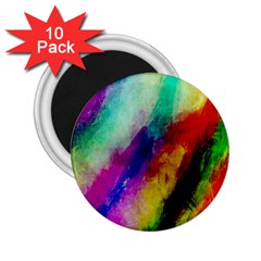 Colorful Abstract Paint Splats Background 2.25  Magnets (10 pack)