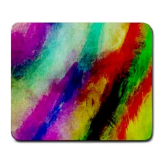 Colorful Abstract Paint Splats Background Large Mousepads