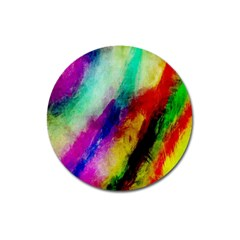 Colorful Abstract Paint Splats Background Magnet 3  (round)