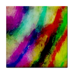 Colorful Abstract Paint Splats Background Face Towel