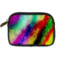 Colorful Abstract Paint Splats Background Digital Camera Cases