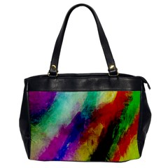 Colorful Abstract Paint Splats Background Office Handbags