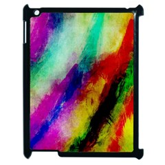 Colorful Abstract Paint Splats Background Apple iPad 2 Case (Black)