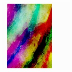 Colorful Abstract Paint Splats Background Small Garden Flag (two Sides)