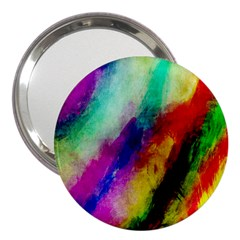 Colorful Abstract Paint Splats Background 3  Handbag Mirrors