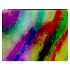 Colorful Abstract Paint Splats Background Cosmetic Bag (XXXL)