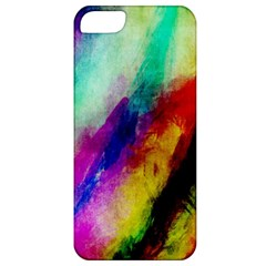 Colorful Abstract Paint Splats Background Apple iPhone 5 Classic Hardshell Case