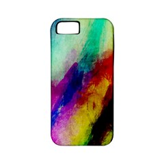 Colorful Abstract Paint Splats Background Apple iPhone 5 Classic Hardshell Case (PC+Silicone)