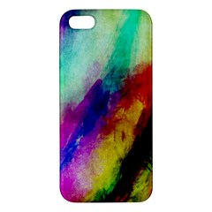 Colorful Abstract Paint Splats Background Apple iPhone 5 Premium Hardshell Case
