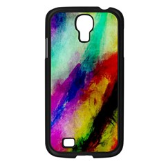 Colorful Abstract Paint Splats Background Samsung Galaxy S4 I9500/ I9505 Case (Black)