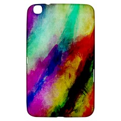 Colorful Abstract Paint Splats Background Samsung Galaxy Tab 3 (8 ) T3100 Hardshell Case