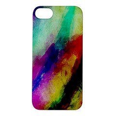 Colorful Abstract Paint Splats Background Apple iPhone 5S/ SE Hardshell Case