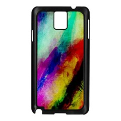 Colorful Abstract Paint Splats Background Samsung Galaxy Note 3 N9005 Case (Black)
