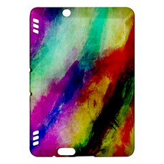 Colorful Abstract Paint Splats Background Kindle Fire Hdx Hardshell Case