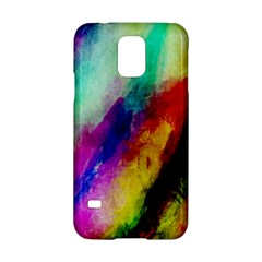 Colorful Abstract Paint Splats Background Samsung Galaxy S5 Hardshell Case
