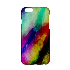 Colorful Abstract Paint Splats Background Apple Iphone 6/6s Hardshell Case