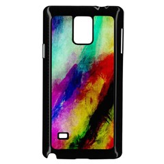 Colorful Abstract Paint Splats Background Samsung Galaxy Note 4 Case (black)