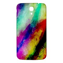 Colorful Abstract Paint Splats Background Samsung Galaxy Mega I9200 Hardshell Back Case
