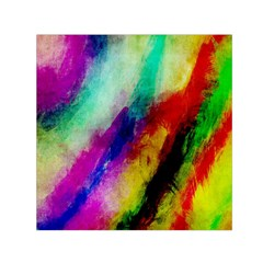 Colorful Abstract Paint Splats Background Small Satin Scarf (square)