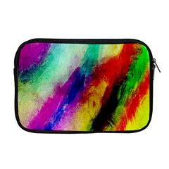 Colorful Abstract Paint Splats Background Apple Macbook Pro 17  Zipper Case