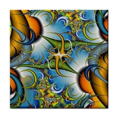 Random Fractal Background Image Tile Coasters