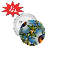 Random Fractal Background Image 1 75  Buttons (10 Pack)