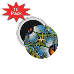 Random Fractal Background Image 1 75  Magnets (10 Pack)