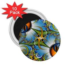 Random Fractal Background Image 2.25  Magnets (10 pack)