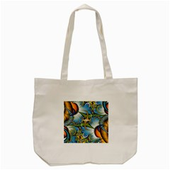 Random Fractal Background Image Tote Bag (Cream)