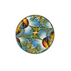 Random Fractal Background Image Hat Clip Ball Marker (10 pack)
