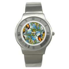 Random Fractal Background Image Stainless Steel Watch