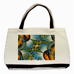 Random Fractal Background Image Basic Tote Bag