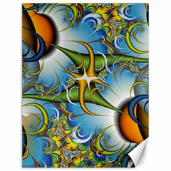 Random Fractal Background Image Canvas 12  X 16