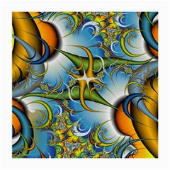 Random Fractal Background Image Medium Glasses Cloth (2 Side)