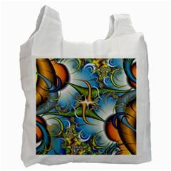 Random Fractal Background Image Recycle Bag (one Side)