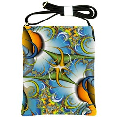 Random Fractal Background Image Shoulder Sling Bags