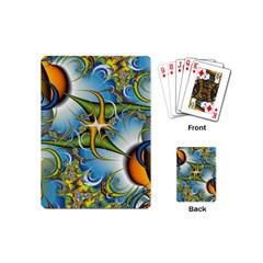 Random Fractal Background Image Playing Cards (mini)