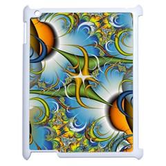 Random Fractal Background Image Apple iPad 2 Case (White)