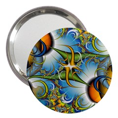 Random Fractal Background Image 3  Handbag Mirrors