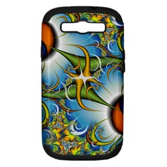 Random Fractal Background Image Samsung Galaxy S III Hardshell Case (PC+Silicone)