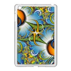 Random Fractal Background Image Apple iPad Mini Case (White)
