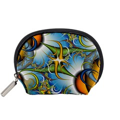 Random Fractal Background Image Accessory Pouches (Small)