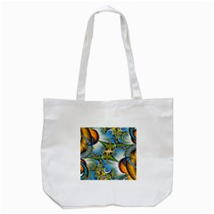 Random Fractal Background Image Tote Bag (white)